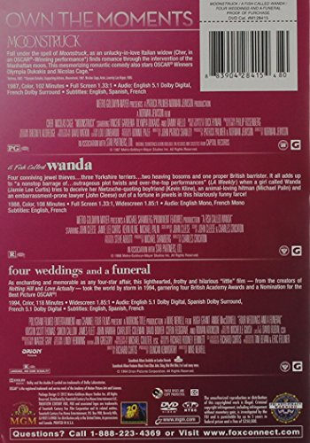 4 Weddings and a Funeral / A Fish Called Wanda / Moonstruck Triple Feature