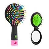 Detangling Hair Brush - Flend Rainbow Comb Pairs for Adults & Kids - Detangle Hair Easily With No Pain (Black)