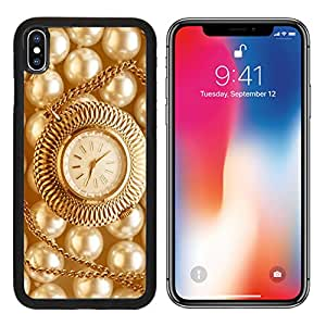 MSD Premium Apple iPhone X Aluminum Backplate Bumper Snap Case IMAGE ID: 35040328 Watch in closeup on pearl background in warm colour