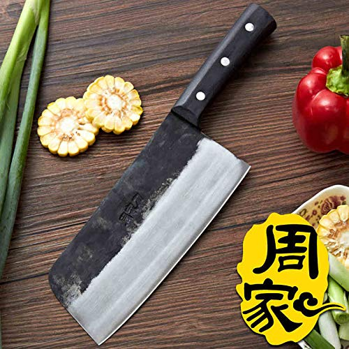 (Best Quality Kitchen Knives Handmade Kitchen Knives Carbon Steel Chinese Style Chef Slice Meat Vegetable Multifunctional Knife)