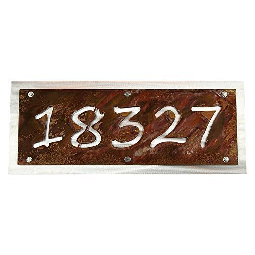 046693ca50d Amazon.com  Rustic Metal Address Number Sign