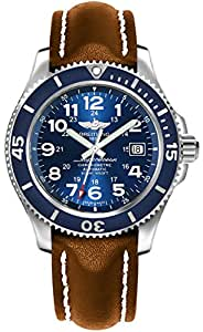 Breitling Superocean II 42 Blue Dial Men's Watch with Brown Leather Strap A17365D1/C915-425X
