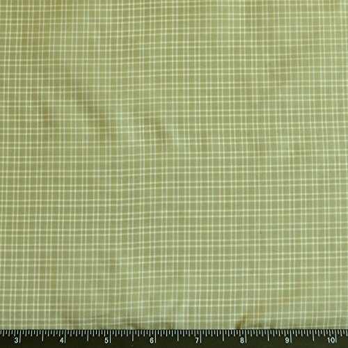 (Mint Green & White Tissue Taffeta Checks, 100% Silk Fabric, By The Yard, 44