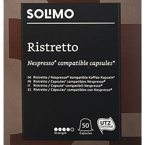 Marchio Amazon - Solimo Capsule Ristretto, compatibili Nespresso* - 100 capsule (2 x 50)