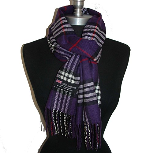 Men's Ice Skating Costumes Uk (Big Check Loop Plaid Unisex - SM02 (US Seller) Purple_NEW Scarf SCOTLAND)