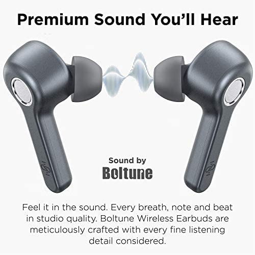 Wireless Earbuds | Boltune Bluetooth 5.0 Earbuds | 40 Hr Playing Time | USB-C Quick Charge | IPX8 Waterproof |Stereo Sound Deep Bass Bluetooth Headphones | Built-in Mic - Grey 7
