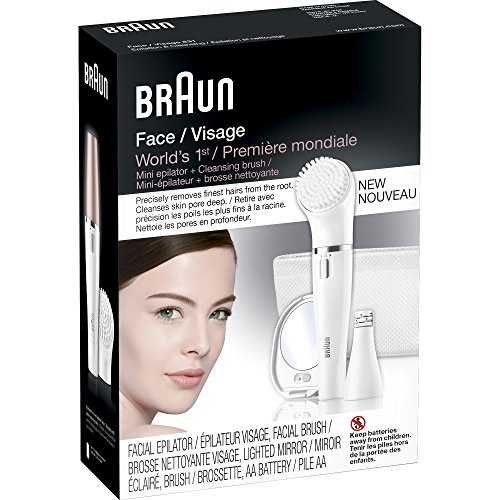 Braun Face 830 Women's Miniature Epilator, Electric Hair Removal, with Facial Cleansing Brush for Women (Beauty Edition) by Braun (Image #5)
