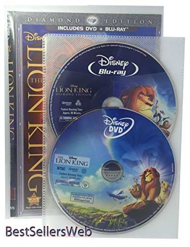 (BestSellersWeb 50 Pack Movie Sleeves With Clear CPP Plastic & 2 Disc Non-Woven Sleeves)