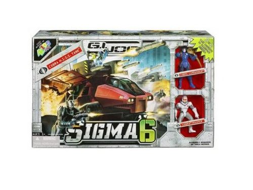 Hasbro Year 2006 G.I. JOE  Sigma 6  Series Action Figure Vehicle Set  COBRA H.I.S.S. TANK that Congreens to Transport Bunker with 8 Missiles, Cobra Flag and 2 Guns Plus Two 3Inch Tall Action Figures (Cobra Commander Figure and Cobra Trooper Figure)
