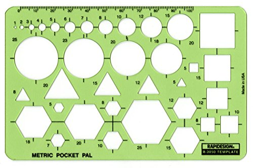 Rapidesign Metric Pocket Pal Template, 1 Each (R2050) ()