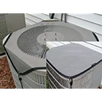 Air Conditioner Covers - COMBO Winter and Summer 24x24 GRAY