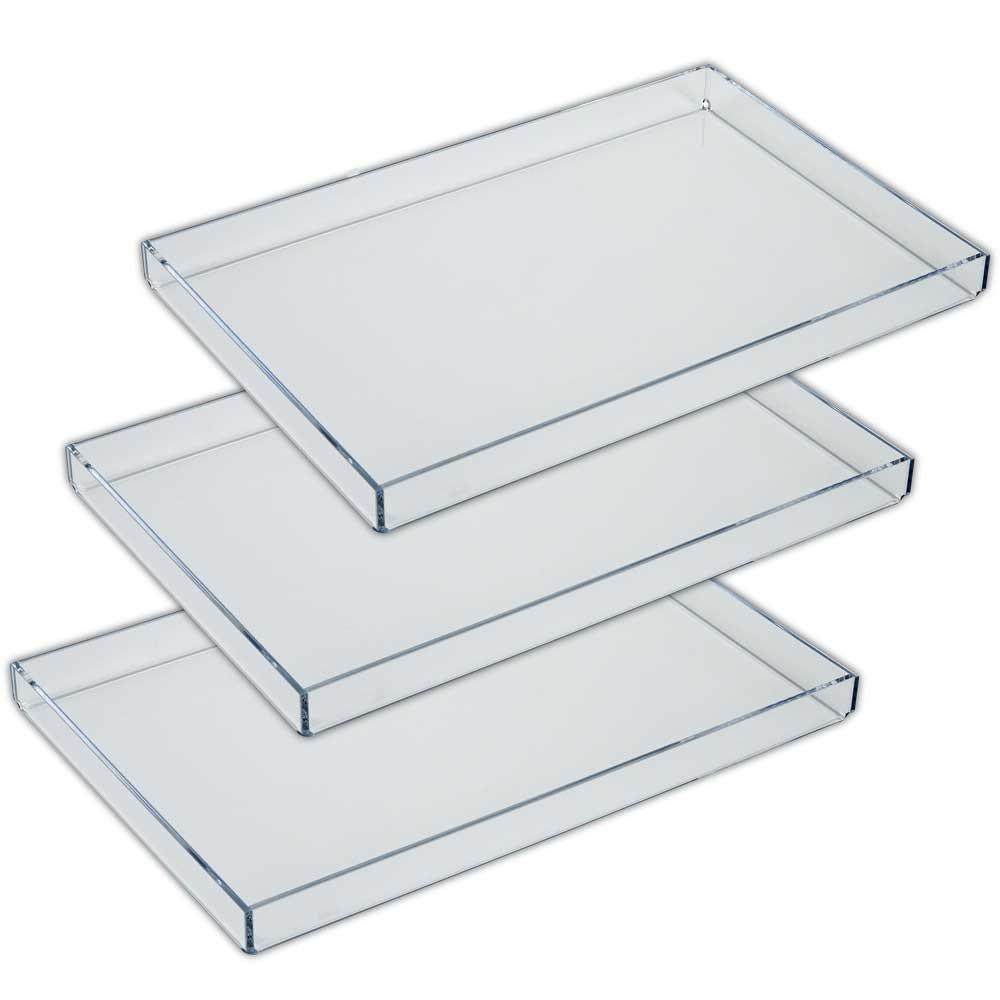 Mirart Acrylic Tray 8 x 12 (3 Pack)