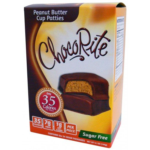 - CHOCORITE CHOCOLATE VALUE PACK -6 24 GRAM BARS-SUGAR FREE-35 CALORIES PER PIECE (PEANUT BUTTER CUP PATTIES VALUE PACK)