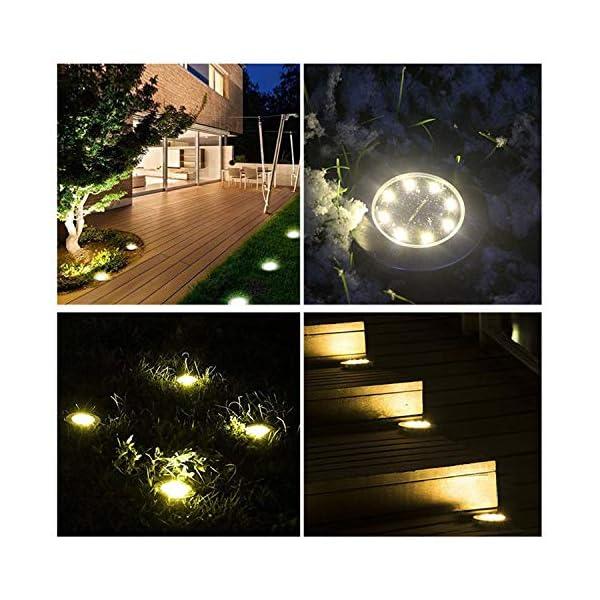 Wilktop Lampade Solari per Giardino Lampada Solare Lampada da Terra Bianco Caldo con Luce a 8 LED LED Esterno IP65 8er Nella Luce Solare Esterna Impostata 6 spesavip