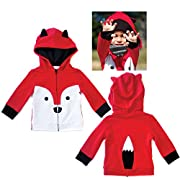 Fox Hoodie / Jacket for Infant Toddler Boys Girls Unisex by Mini Jiji (12-18 mos)