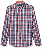 IZOD Men's Slim Fit Button Down Long Sleeve Stretch Performance Plaid Shirt