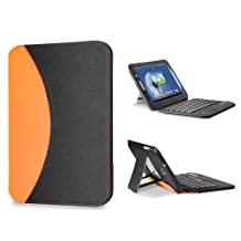 GreatShield LEAN Series Ultra Thin Keyboard Leather Case with Stand & Sleep Wake Function for Samsung Galaxy Note 8.0 Tablet (Orange)