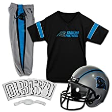 Franklin Sports NFL Carolina Panthers Deluxe Youth Uniform Set, Small