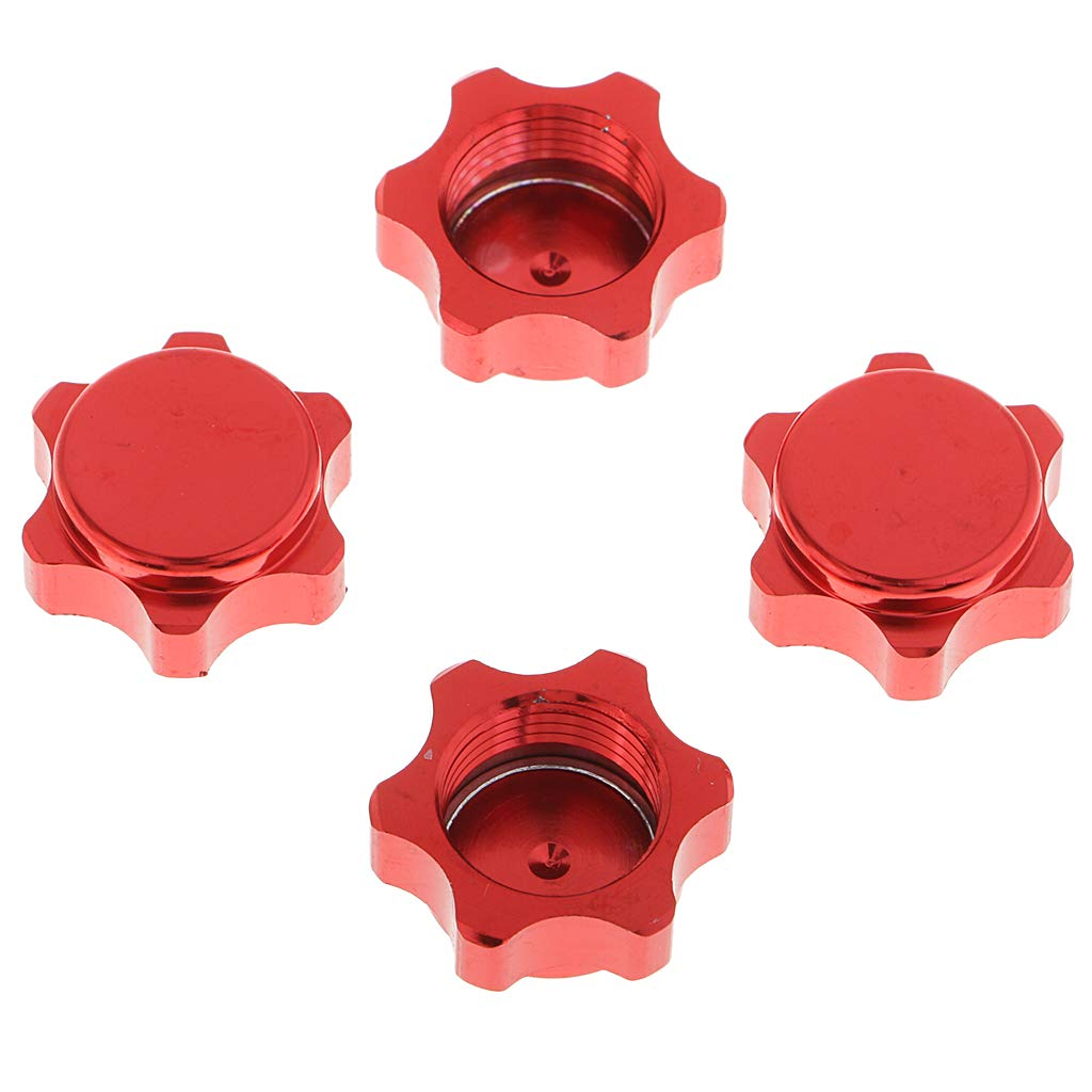 IPOTCH Tornillos de Tuercas de Aluminio para Tuercas de Rueda De 4X 17 Mm para 1//8 RC Car P/úrpura