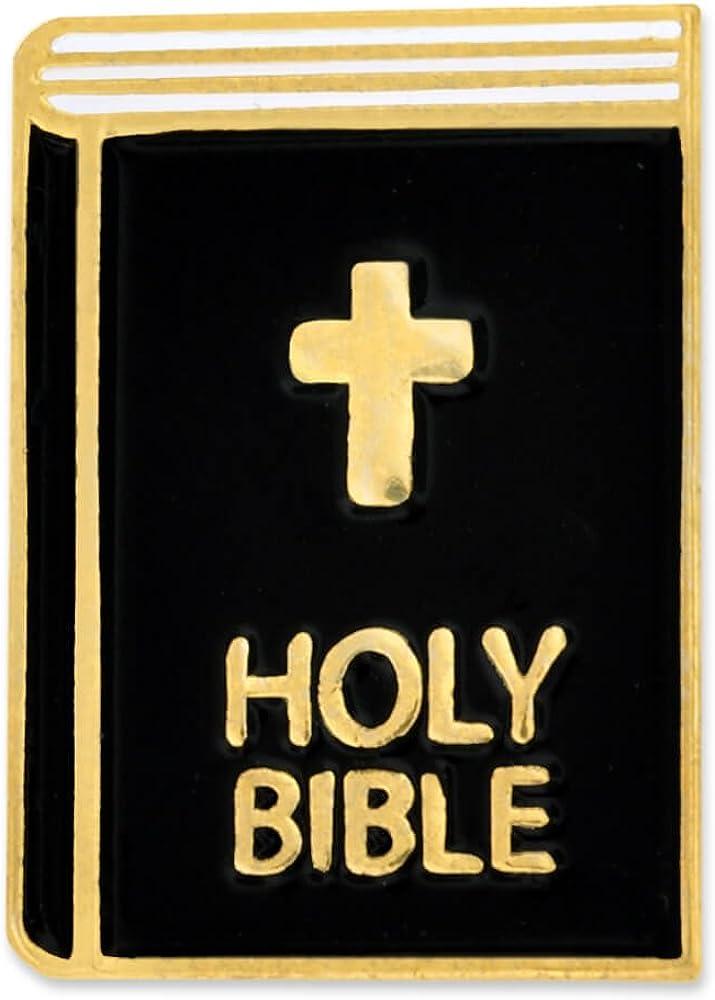 PinMart Holy Bible Religious Cross Enamel Lapel Pin