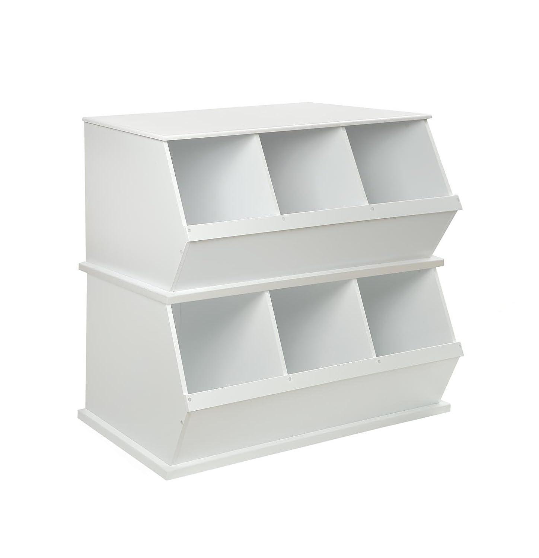 Amazon.com : Badger Basket Three Bin Storage Cubby - White : Childrens  Storage Furniture : Baby