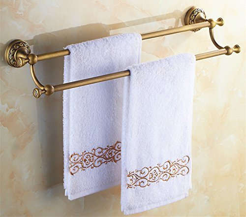 HOMEE Full Copper Bathroom Towel Bar Toilet Hanging Rack by HOMEE