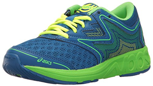Asics Boys Noosa Ff Gs Running Shoe  Imperial Green Gecko Safety Yellow  1 5 M Us Big Kid