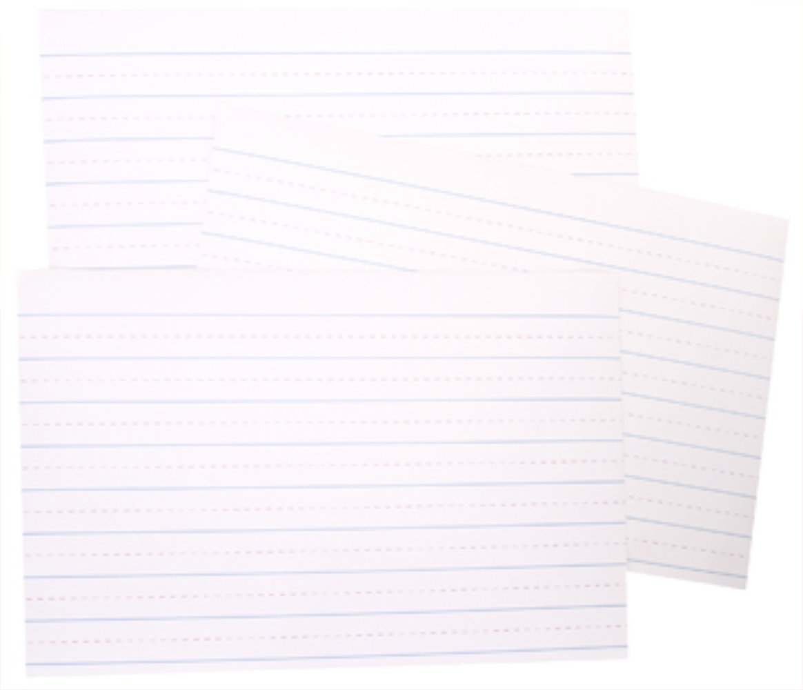 RetailSource DAR010ED72 Learning Charts Lined Paper, 22'' x 13.75'', 3 Pieces Grade (Pack of 72) by RetailSource