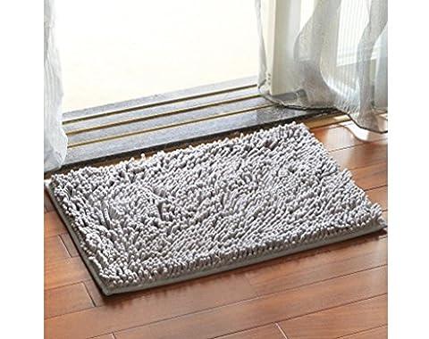 Chezmax Chenille Specific Color Non-slip Indoor Outdoor Hello Doormat Large Small Inside Outside Front Door Mat Carpet Floor Rug Gray - Color Door Mat