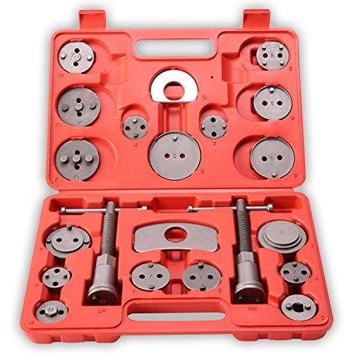 TRESKO 22 tlg Bremskolbenrücksteller Set – Rückstellwerkzeug zum Zurückstellen des Bremskolben, KFZ-Werkzeug, universell