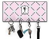 RNK Shops Diamond Dancers Key Hanger w/ 4 Hooks (Personalized)