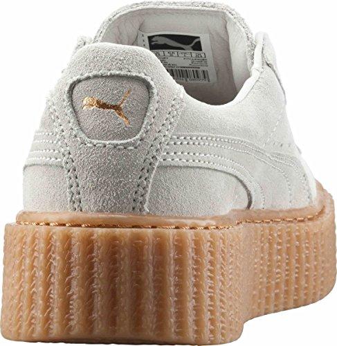 Puma Womens Fenty Di Creepers In Pelle Scamosciata Bianca Rihanna 36100506 Sneakers Scarpe In Pelle Bianca Stella / Avena