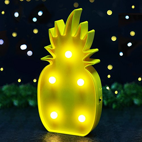 BRIGHT Pineapple Marquee Batteries Included