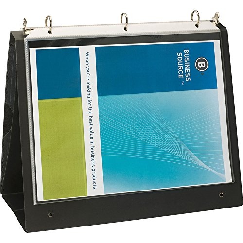 Business Source 1-Inch Presentation Binder - Black (Presentation Recycled Binder)