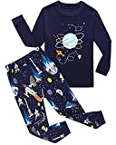 Space Baby Boys Long Sleeve Pajamas Sets 100% Cotton Clothes Toddler Infant Kids 6-12 Months