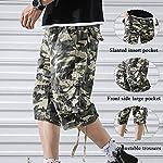 OEAK Shorts Cargo Homme Rétro Baggy Pantacourt Camouflage Outdoor Bermudas Casual Combat Pantalon Court Militaire Multi… 13