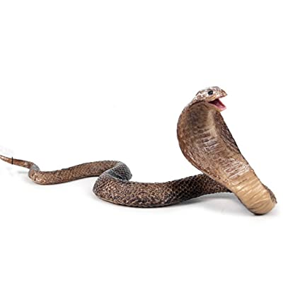 Ulalaza Simulation Snake Toy Lifelike Python Cobra Model Halloween Prank Scary Snake Fake Animal Toy (537): Toys & Games