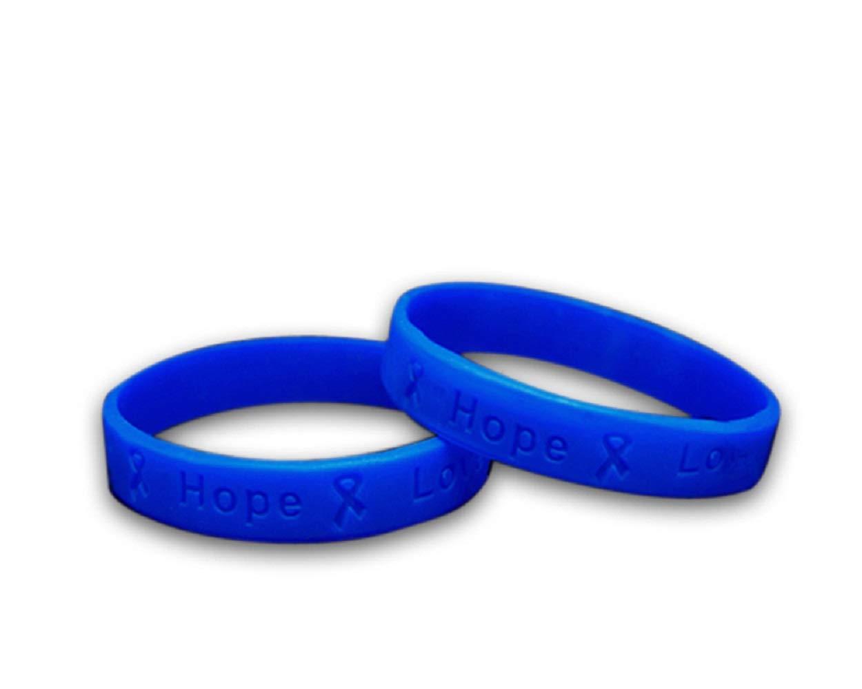 50 Pack Colon Cancer Awareness Silicone Bracelets - Adult Size (Wholesale Pack - 50 Bracelets)