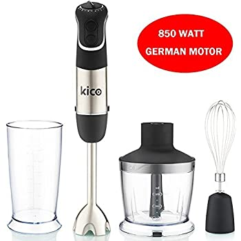 Kico Hand Blender Set, 850 Watt Immersion Blender, Powerful 7-Speed Stick Blender