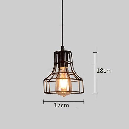 7 tipo moderno lámpara colgante jaula negra araña de hierro ...