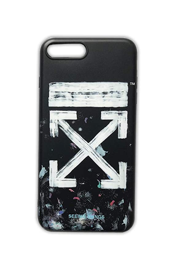 3cc94a772 Amazon.com: Off White OW Spoof Seeing Things Mobile Phone Case for Apple  iPhone 7 | iPhone 8 Generation Black Colo: Cell Phones & Accessories