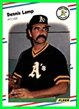 1988 Fleer #284 Dennis Lamp oakland a's athletics