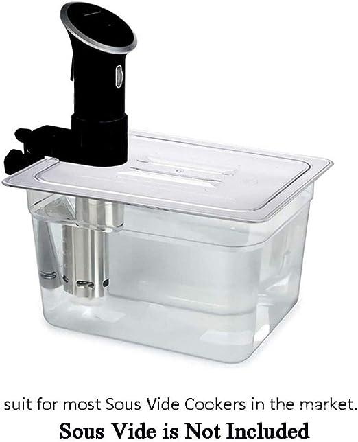 Caja transparente de 11 litros Sous Vide con tapa para la mayoría ...