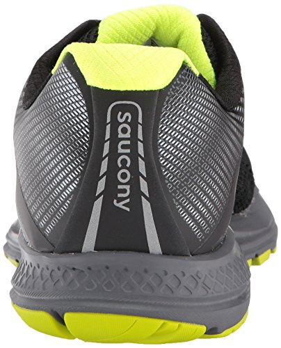 Saucony Men's Ride 10 Running Shoes Black Freeze Green rabMtFV7