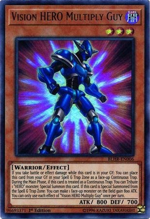 Vision HERO Multiply Guy  BLHR-EN006 Ultra Rare Yu-Gi-Oh Card 1st Edition New