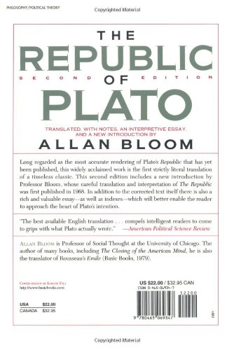 the republic of plato second edition allan bloom  the republic of plato second edition allan bloom 9780465069347 books ca