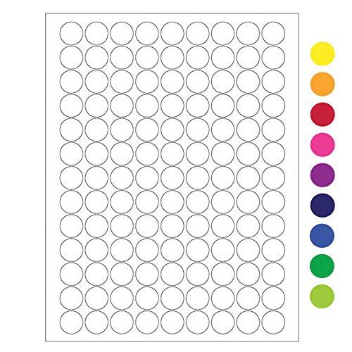 19.1mm circle Laser and Inkjet Matte Paper Labels 0.75 circle