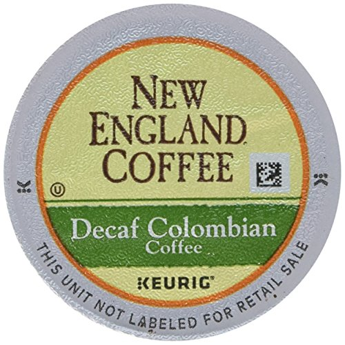 New England Coffee Colombian Decaffeinated, Single Serve Coffee K-Cup Pods, Medium Roast, 12 Count (Pack of 6)