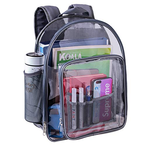 Clear Backpack, Heavy Duty See Through Backpack Transparent Large Bookbag for College Work Security...