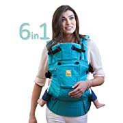 LÍLLÉbaby The COMPLETE Embossed SIX-Position 360° Ergonomic Baby & Child Carrier, Teal - Baby Carrier, Ergonomic Multi-Position Carrying for Infants Babies Toddlers